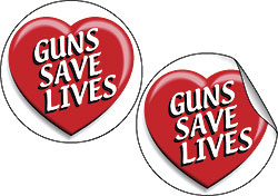 Guns Save Live Stickers